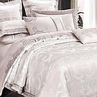 Элитное постельное белье Viluta Сатин жаккард Tiare 1924 Евро SKL53-239999