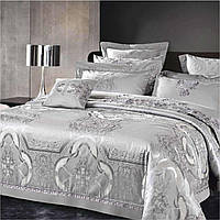 Элитное постельное белье Viluta Сатин жаккард Tiare 2004 Евро SKL53-240031