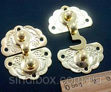 (5шт) Замочек для шкатулки с крючком 45х34мм Цвет - Золото (сп7нг-2150)