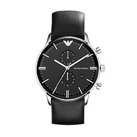 Чоловічий годинник Emporio Armani AR0397 Black Leather SKL35-189126