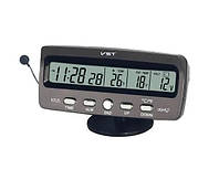 Часы автомобильные VST 7045V Черные