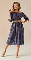Платье Andrea Fashion-AF-9 белорусский трикотаж, синий, 46
