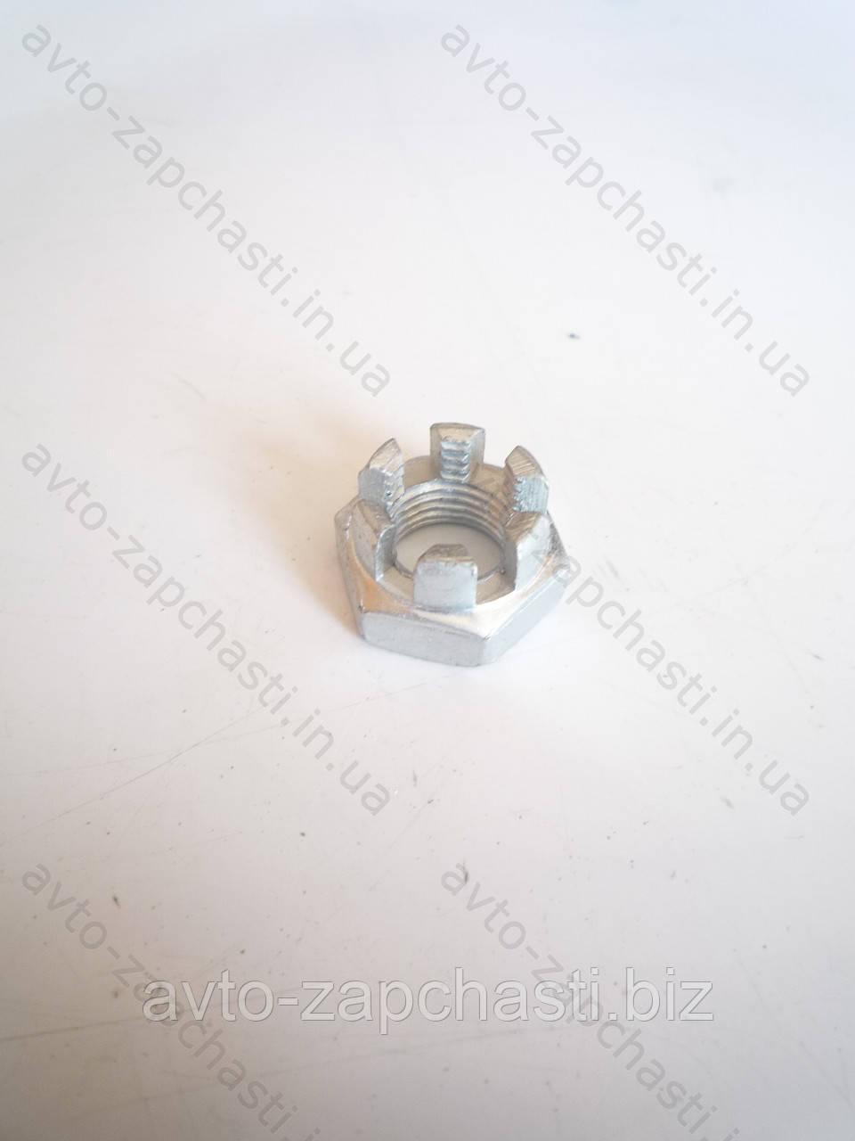 Гайка 12 рулевых тяг ВАЗ 2108-15 коронка (20 шт) (пакет) (F 3414078)