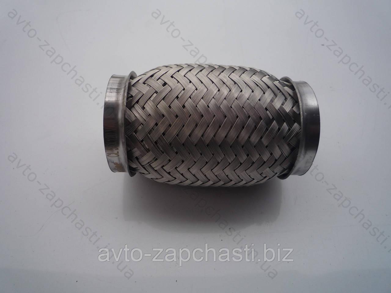 Гофра 55х120  VW  INTERLOCK (3-х слойная, короткий фланец/ нерж.сталь) (пакет) (CL 55х120 VW)