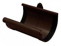 Муфта желоба RainWay 90мм коричневая