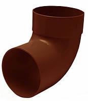 Отвод одномуфтовый 87° RainWay 75мм коричневый