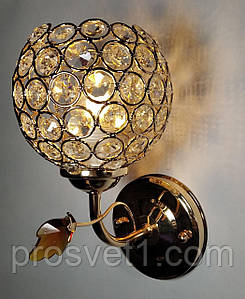 Настенное бра стеклянный шар (W6002/1 бронза 120мм Melody )