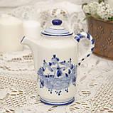 Фарфоровый чайничек с крышкой, Делфт, ручная роспись, Делфтский фарфор, Голландия, фото 2