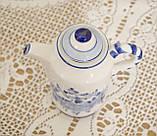 Фарфоровый чайничек с крышкой, Делфт, ручная роспись, Делфтский фарфор, Голландия, фото 3
