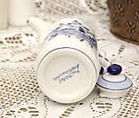 Фарфоровый чайничек с крышкой, Делфт, ручная роспись, Делфтский фарфор, Голландия, фото 4