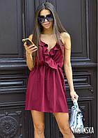 Летнее платье из софта на бретелях, фото 1