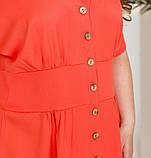 Платье батал с рядом пуговиц спереди на планке, фото 2