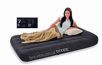 Надувная кровать Intex Pillow Rest Classic Intex 66779 (99х191х30 см. ) + встроенный насос