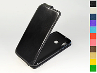 Откидной чехол из натуральной кожи для Samsung Galaxy A40 2019 A405F