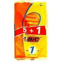 Bic 1 Sensitive станки для бритья /1 лезвие/ 5+1шт