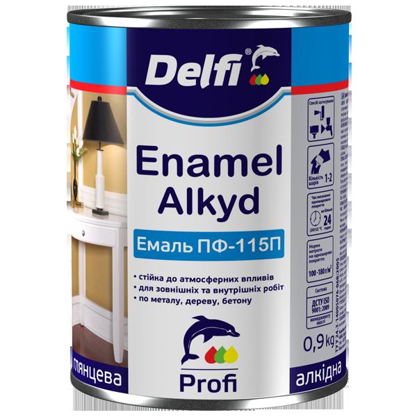 Емаль алкідна ПФ-115П Delfi  0.9(кг) сіра
