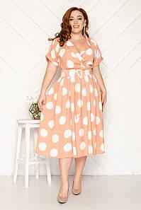 Женское платье в горошек 46-52 р ( разные цвета )