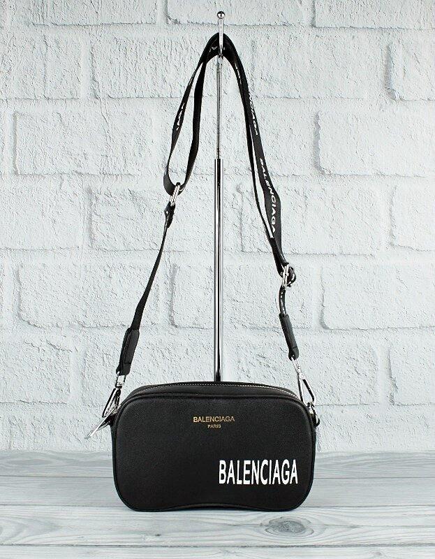 Стильная женская сумочка-клатч через плечо черная Balenciaga 9013