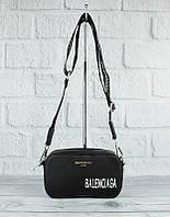 Стильная женская сумочка-клатч через плечо черная Balenciaga 9013, фото 1