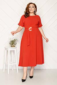 Платье деловое летнее 50-56 р ( разные цвета )