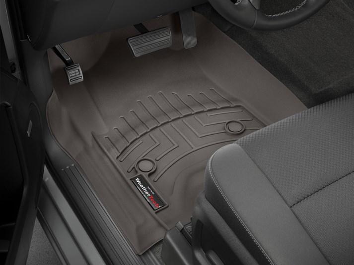 Ковры резиновые WeatherTech Cadillac Escalade 2015+ передние какао