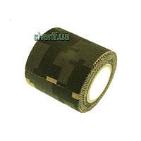 Маскировочная лента камуфляж 5 х 450 см клейкая Digital Camo (покрытие хлопок) 02031