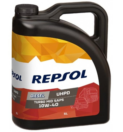Моторное масло REPSOL DIESEL TURBO UHPD MID SAPS 10W40 5л