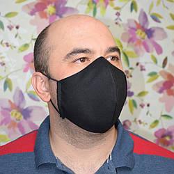10 шт черная маска защитная трехслойная многоразовая хлопковая для мужчин