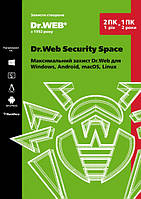 Dr. Web Security Space 2 ПК 12 месяцев электронная лицензия