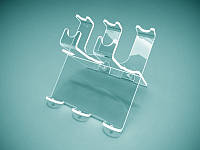 Пластиковая подставка под ручки на 5 шт, 100х85х120 мм (Толщина акрила : 1,8 мм; )