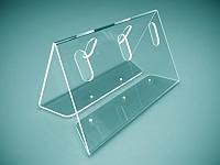 Пластиковая подставка под ручки на 5 шт, 165х90х105 мм (Толщина акрила : 1,8 мм; )