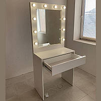Туалетный столик + зеркало с подсветкой 80х95 см, на 1 шухляду