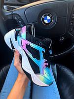 Женские кроссовки Nike M2K Tekno x Kylie Boon «Oil Spill» (Найк М2К Техно), хамелион, код AD-1018