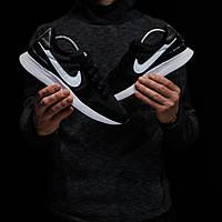 Мужские кроссовки Nike Internationalist (Найк Интернационалист), черные с белым, код DK-1311
