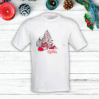 "Футболка с новогодним принтом Девушка у елки с подарками ""Merry Cristmas"" Push IT"