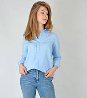 Женская рубашка оверсайз голубая  La Q Women Турция 2433, фото 1