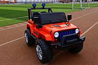 Детский электромобиль Jeep (красный цвет) с пультом дистанционного управления