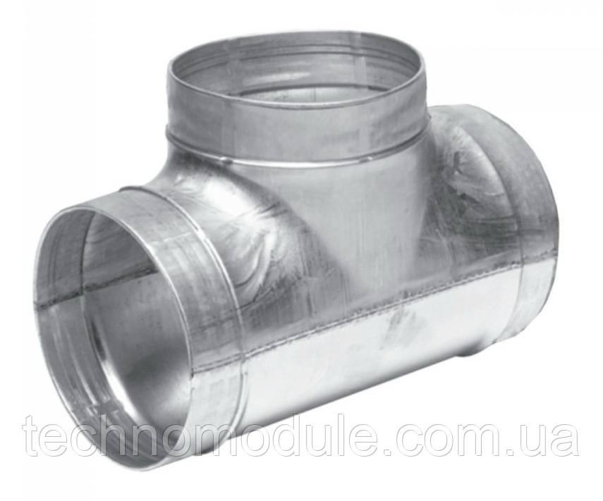 Трійник вентиляційний оцинкований 0,55 D 250x125x250