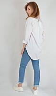Рубашка-туника женская классическая белая  La Q Women Турция 8526, фото 1