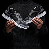 Мужские кроссовки Nike Internationalist (Найк Интернационалист), черные с серым, код DK-1313