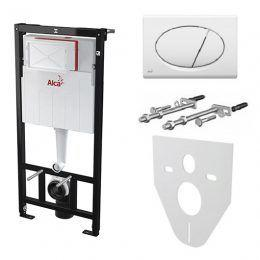 Скрытая система инсталляции для унитаза Alcaplast 1120*150*520 с кнопкой