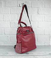 Шикарный рюкзак - сумка Velina Fabbiano 571183-1 бордовый, фото 1