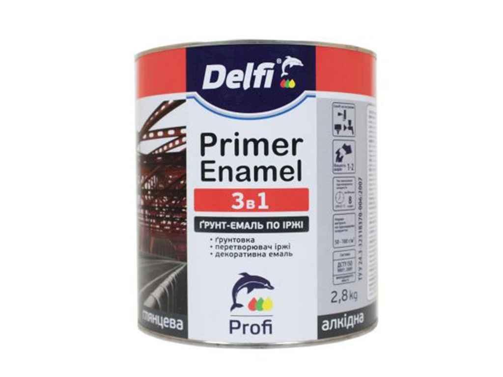 Ґрунт-емаль по іржі 3 в 1 Delfi 2.8 (кг) сіра