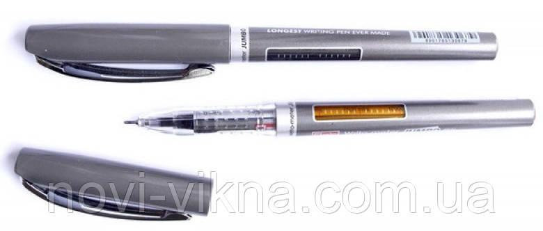 Ручка шариковая Flair Writometer 12,5 км, черная..