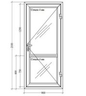 Холодные Алюминиевые Двери (Стандарт)