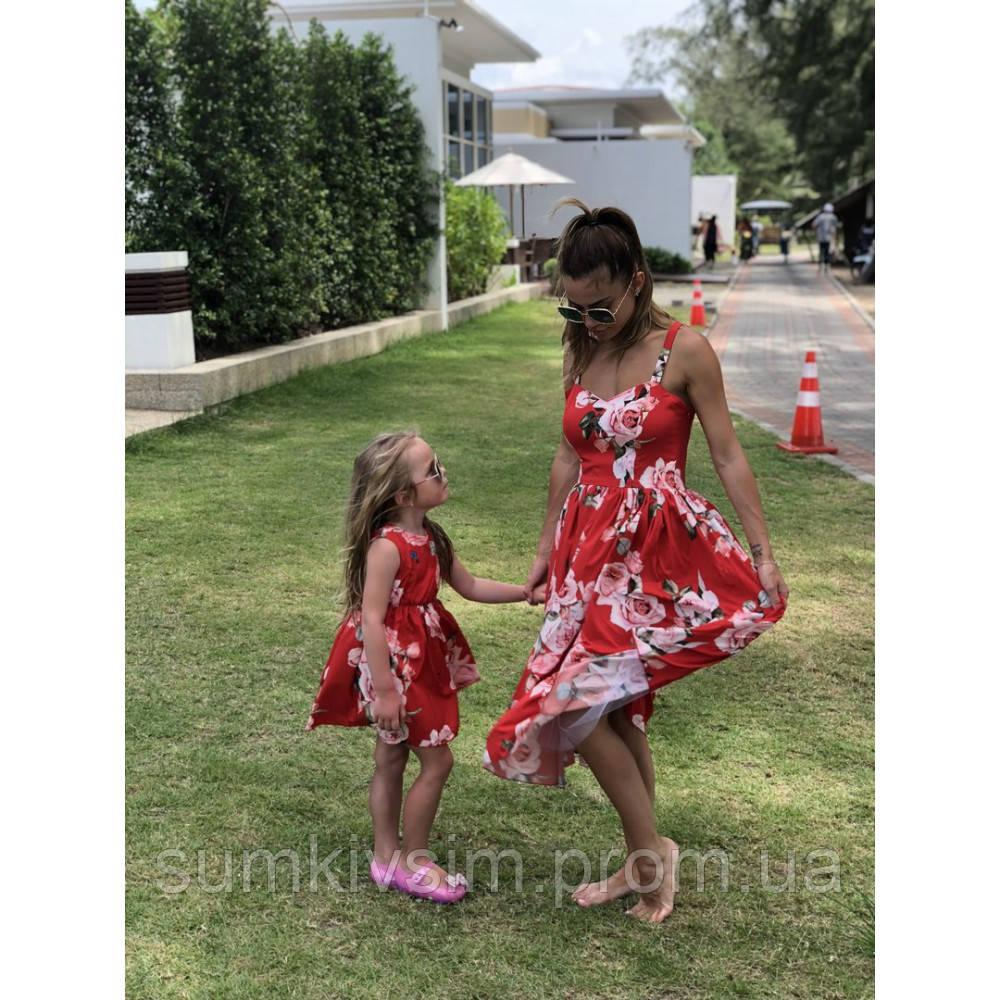 Платье Мама и дочка  familylook
