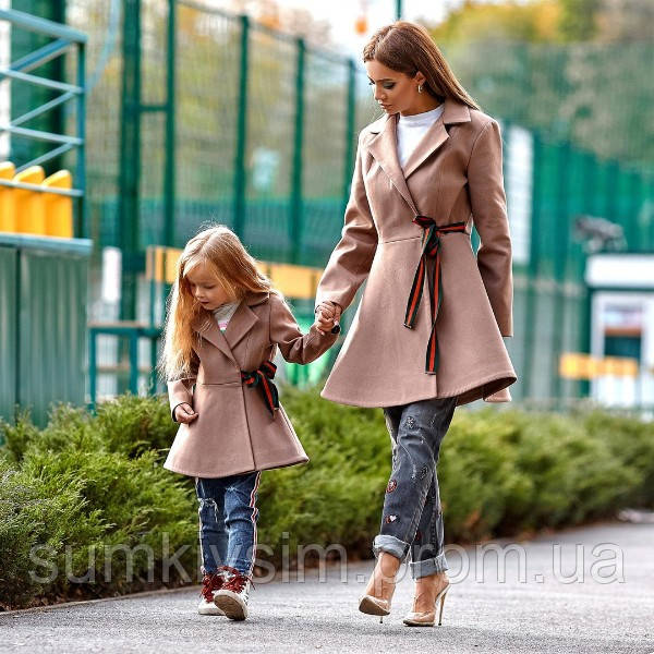 Комплект  пальто Мама и Дочка