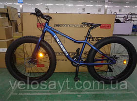 "Велосипед фэтбайк Crosser Fat Bike 26""  Серый, фото 3"
