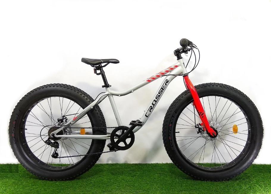 """Велосипед фэтбайк Crosser Fat Bike 26""""  Серый"""