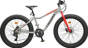 "Велосипед фэтбайк Crosser Fat Bike 26""  Серый, фото 2"